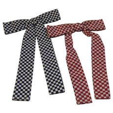 Purina Feed Advertising Bow Tie Premiums Patriotic Red White and Blue Farm Farmhouse