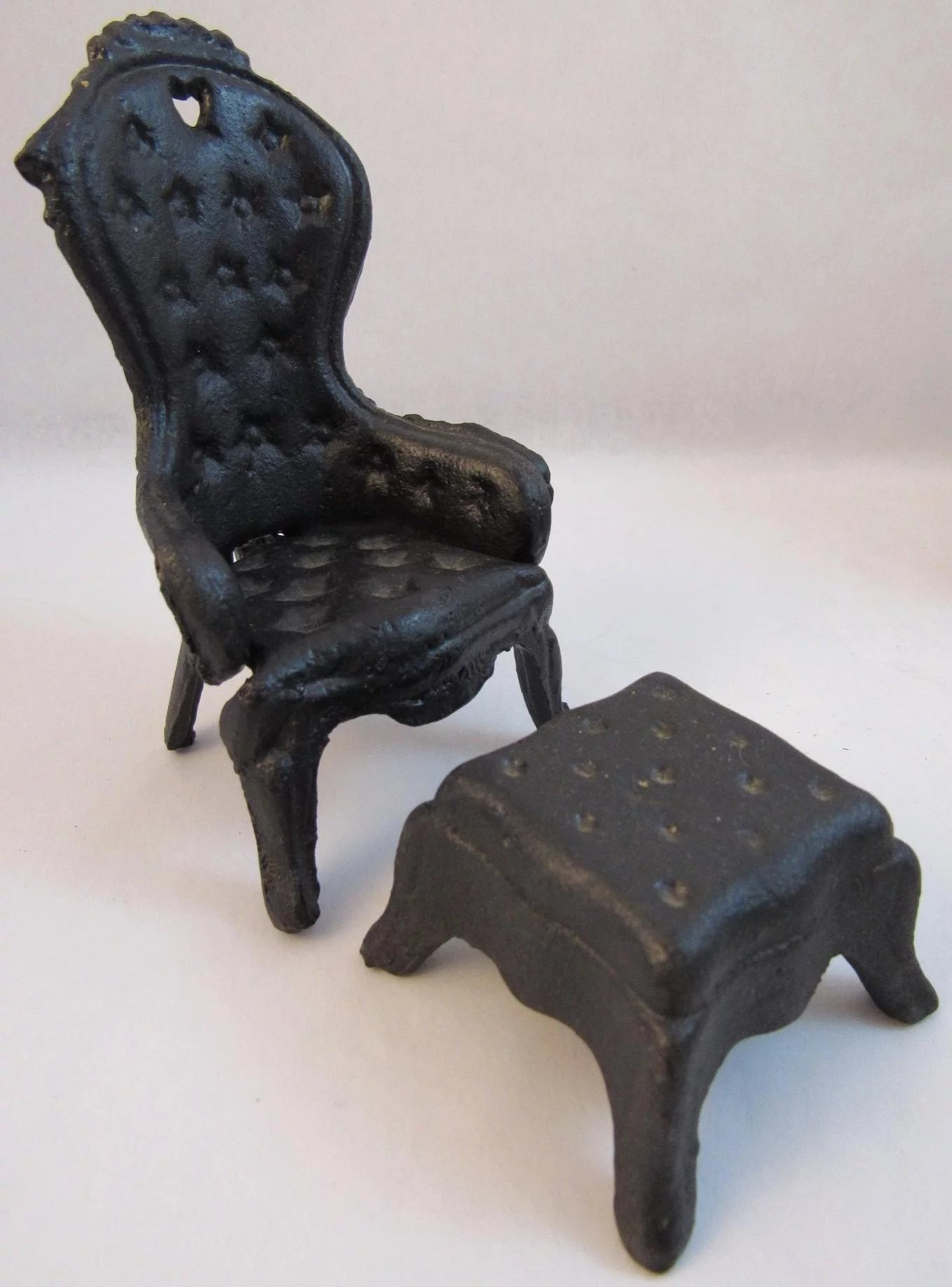 Cast Iron Dollhouse Furniture Victorian Style Living Room