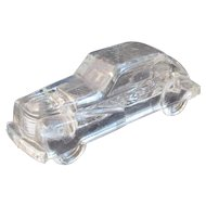 Vintage Glass Coupe Car Candy Container