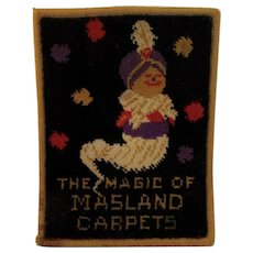 1930's Masland Carpets Advertising Genie Rug - Red Tag Sale Item