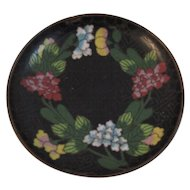 Small Cloisonné Floral Round Dish