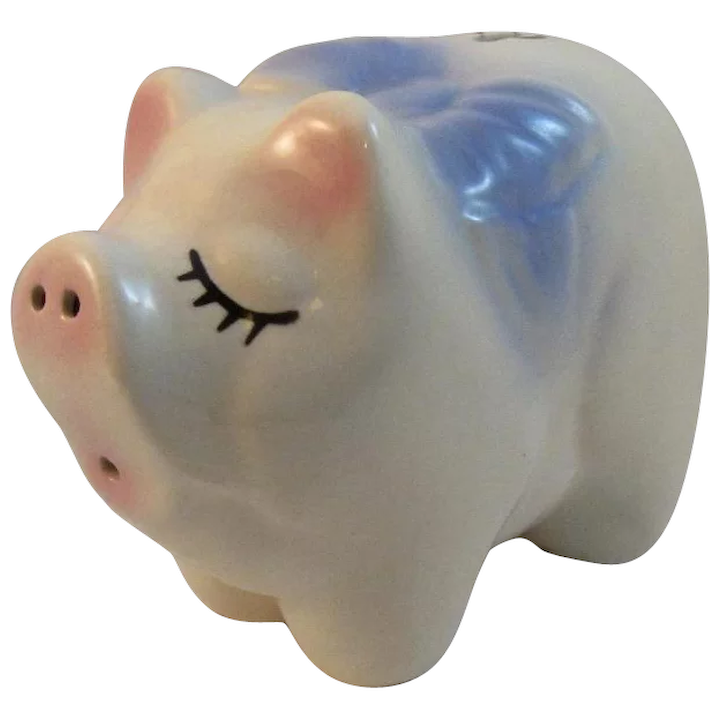 American Bisque Pottery Pig Piggy Bank Ss Moore Antiques Ruby Lane