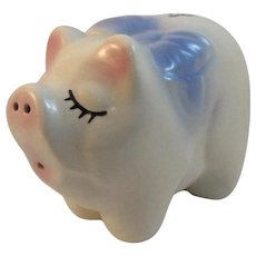 American Bisque Pottery Pig Piggy Bank