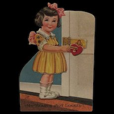Vintage German Mechanical Valentine Heart Lock