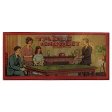 c1920s Milton Bradley Table Croquet Game