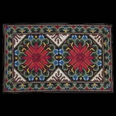 Vintage Hand Hooked Rug - Very Colorful