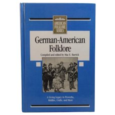 German-American Folklore Book First Edition