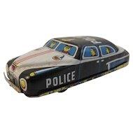 Nomura Tin Friction Police Car Japan Japanese