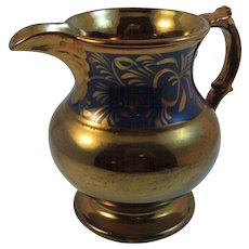 Huge Early Copper Lustre Pitcher