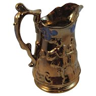 Allertons Staffordshire Copper Lustre Pitcher Jug