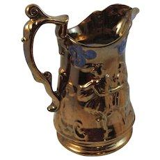 Allertons Staffordshire Copper Lustre Pitcher Jug