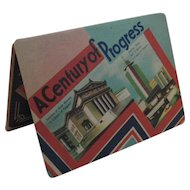 1933 1934 Chicago World's Fair A Century of Progress Souvenir Sewing Needle Book