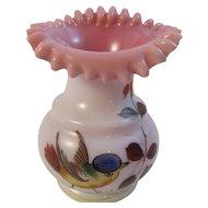 Victorian Blown Ruffled Rim Vase