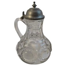Early Pattern Glass Syrup