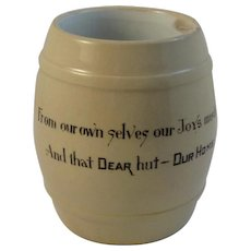 Horlacher's Yellow Ware Beer Motto Mug
