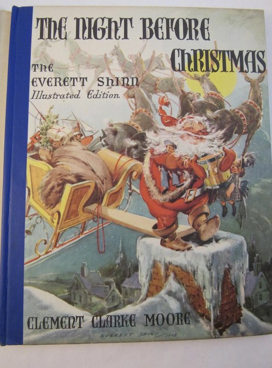 1942 the night before christmas book illustrated by everett shinn lithograph childrens book - Night Before Christmas Book