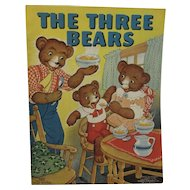 1938 The Three Bears Childrens Book Illustrated by Milo Winter No 3417