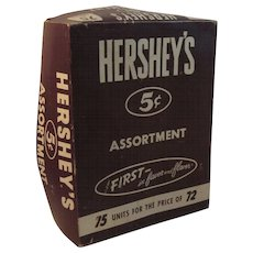 Hershey's Chocolate Candy 5 Cent Assortment Store Display Box
