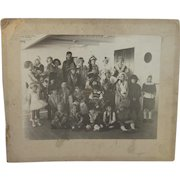 Large Halloween Costume Party Cabinet Card Photograph