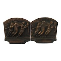 Galley Slaves Bookends Cast Iron with Copper Finish Book Ends