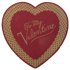 Vintage Valentine Candy Heart Box