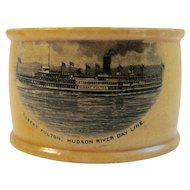 Hudson River Bay Line Mauchline Nautical Napkin Ring Scotland
