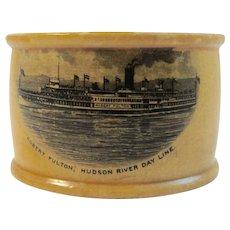 Hudson River Bay Line Mauchline Nautical Napkin Ring Scotland
