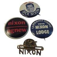 Nixon Ike Agnew Lodge Political Pins
