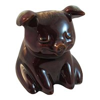 Hull Pottery Sitting Pig Bank