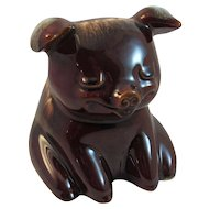 Hull Pottery Sitting Pig Bank