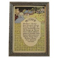 Art Deco Mother Motto Print Mothers Day