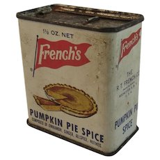 French's Pumpkin Pie Spice Tin Vintage Kitchen Kitchenware Thanksgiving Decor