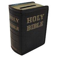 Holy Bible Tin Bank Vintage