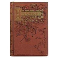 Victorian Poetry Book The Burden Bearer Chromolithograph