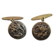Victorian Brass Cuff Links