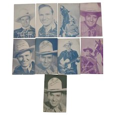8 Photo Cards of Gene Autry