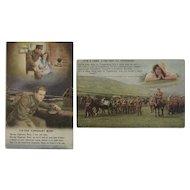 2 World War 1 Tipperary Postcards WWI