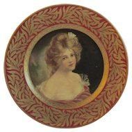 Tin Lithograph Dresden Art Plate Lenore by the Meek Company