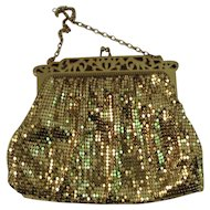 Whiting & Davis Gold Mesh Evening Bag Purse