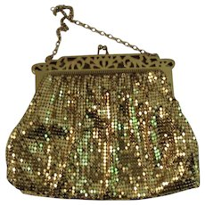 Whiting & Davis Gold Mesh Evening Bag Purse