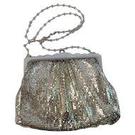 Whiting & Davis Silver Mesh Evening Bag Purse