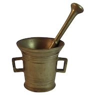 Apothecary Brass Mortar and Pestle