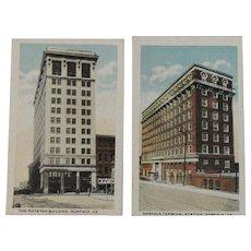 Two Miniature Norfolk Virginia Postcards