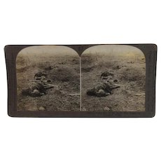 WWI Stereoview Fallen Highlanders in Kilts Proud Men of the North Who Fought on Flanders Field