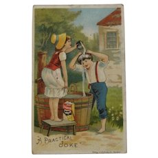 Ivorine Victorian Trade Card Ad Advertising Soap