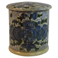 Papier Mache Stamp Roll Box or Caddy from Kashmir