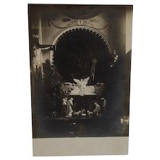 RPPC Christmas Nativity Scene in Church Real Photo Postcard