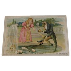 1894 Woolson Spice Frog Prince Advertising Trade Card Victorian