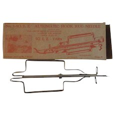 Vintage Automatic Hook Rug Needle