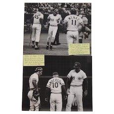2 Original Baseball Photos July 21, 1973 Reds versus Expos Game